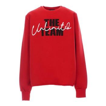 Μπλούζα Paco&Co κόκκινο φούτερ